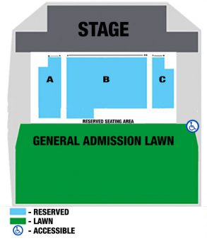 Reserved seating map